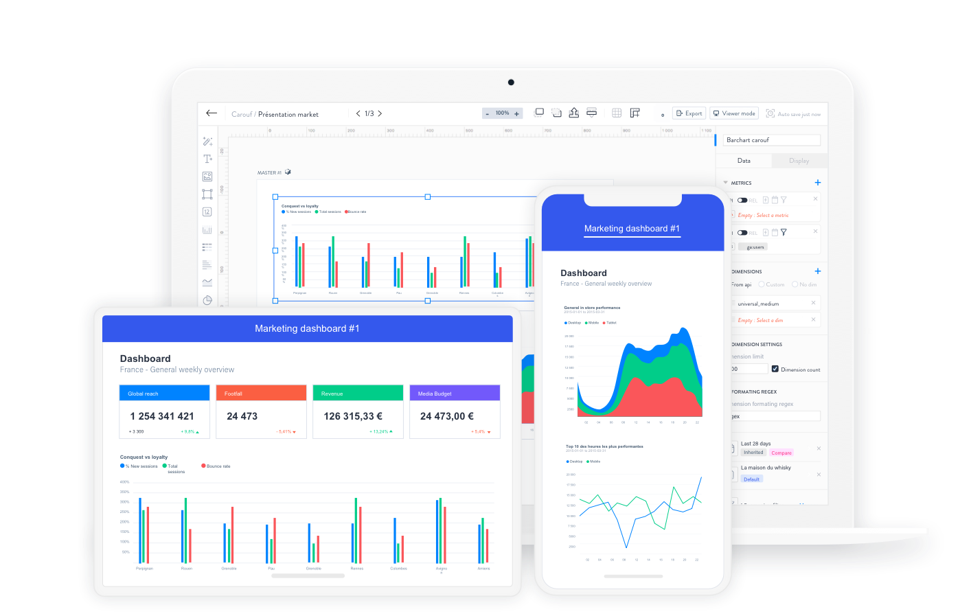 Reeport, solution intuitive de datavisualisation